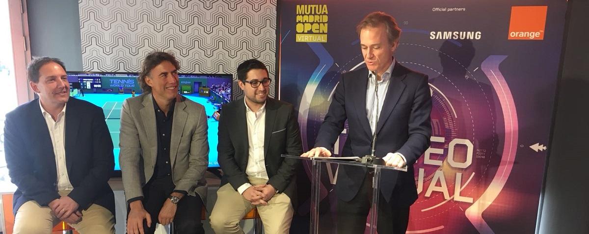 El tenis del futuro llega de la mano de Orange con el nuevo Mutua Madrid Open Virtual