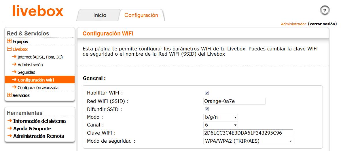 cambiar la contraseña del router panel