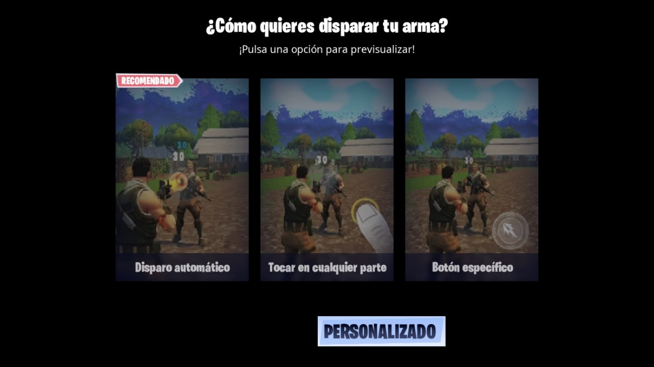 Fornite disparo