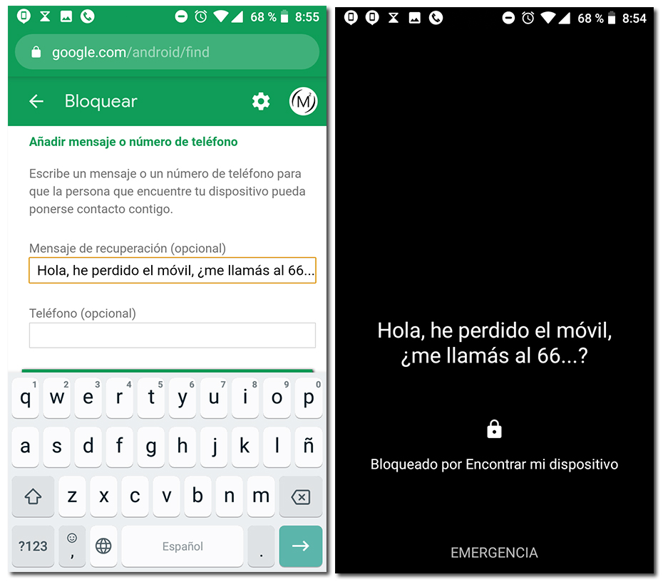 como bloquear el dispositivo android