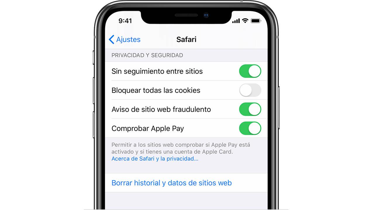 así se borra el historial web de Safari en iOS