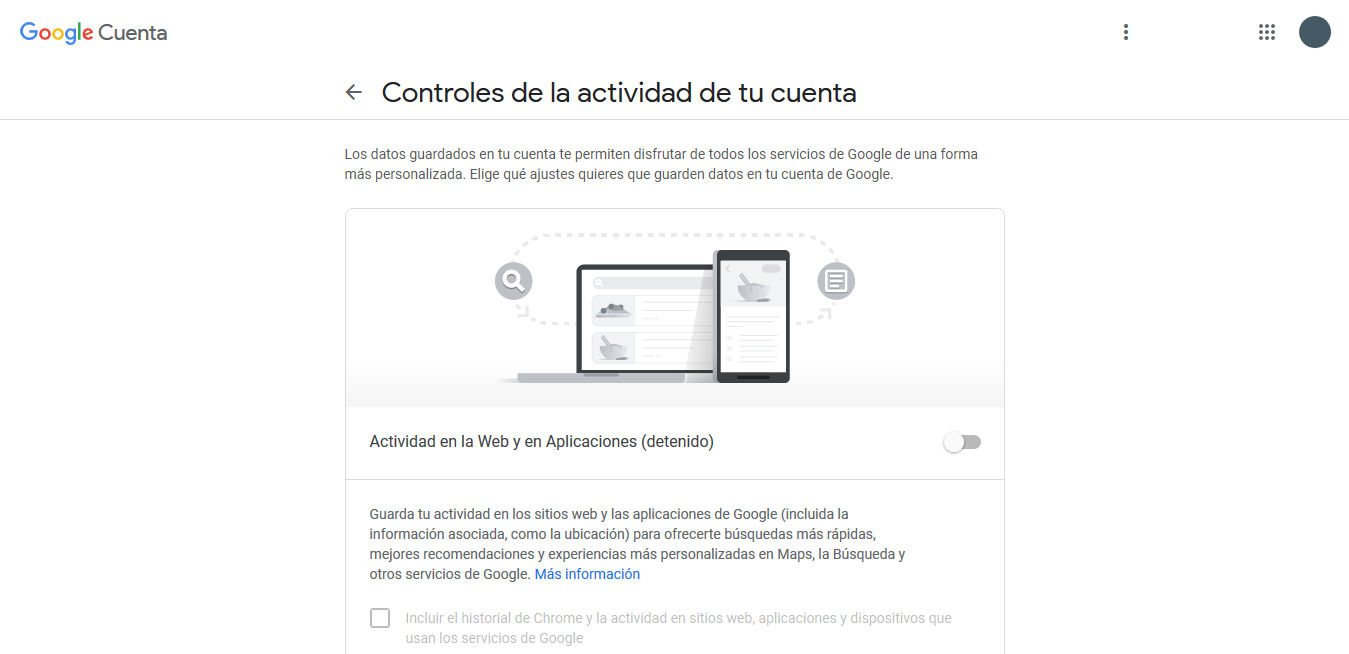 control de version de Google