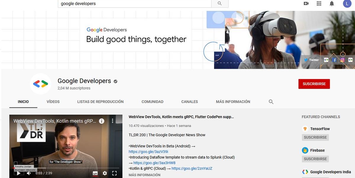 Aprender programación en YouTube