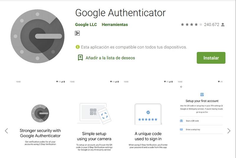 Google Authenticator, un app para la autenticación en 2 pasos