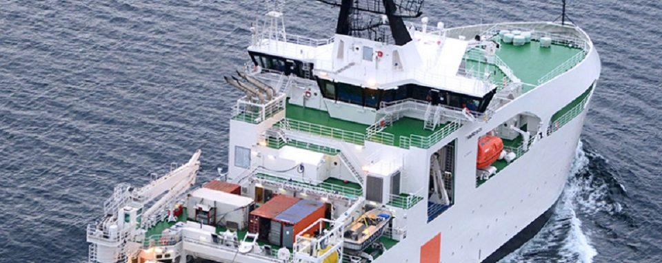 Pierre de Fermat, el barco para el mantenimiento de los cables submarinos
